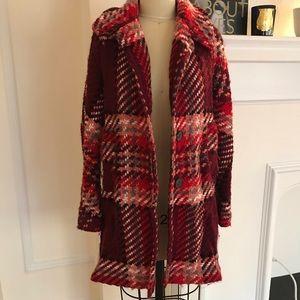 Zara wool plaid coat